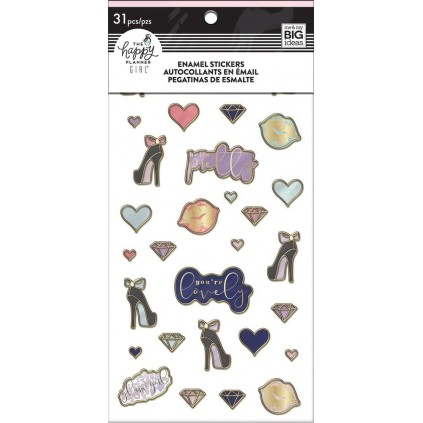 Glam Girl - Enamel Stickers