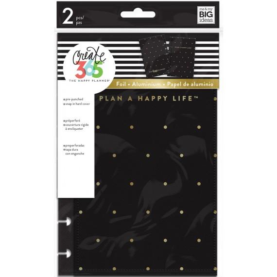 Black / Gold Dot - Mini Snap-In Covers