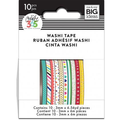 Brights - Skinny Washi Tape