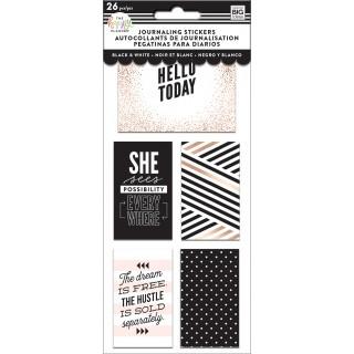 Black & White - Journaling (Flip) Stickers