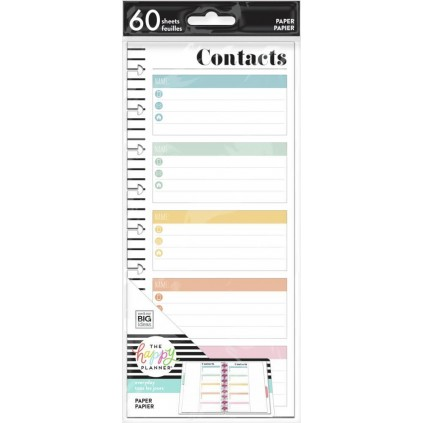 Contacts - Classic Half Sheet Filler Paper