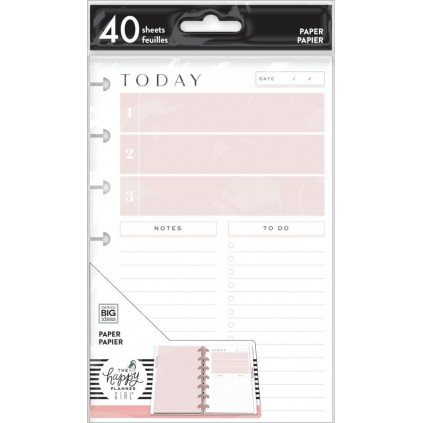 Daily Schedule & To Dos - Minimalist Mini Filler Paper