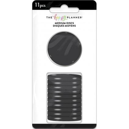 Solid Black Medium Plastic Disc Set