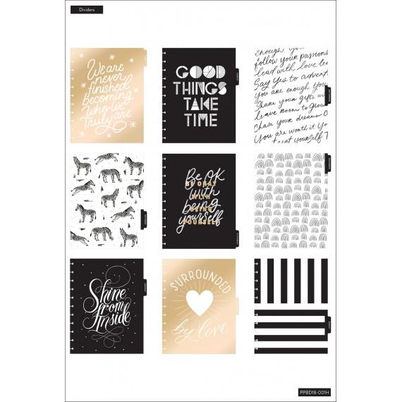 Black & White - BIG Vertical Happy Planner - 18 months