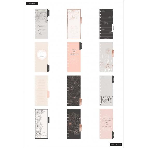 Sophisticated Florals - Skinny Classic Happy Planner -12 måneder