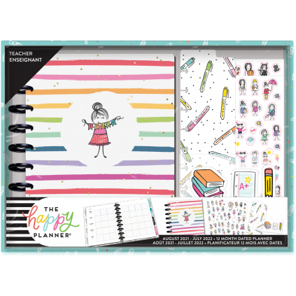 Stick Girl - Classic Teacher Planner Box Kit -12 Months