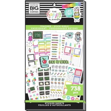 Stick Girl - Teacher Value Pack Stickers