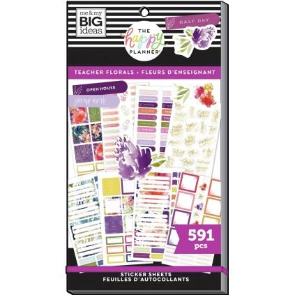 Teacher Florals - Value Pack Stickers