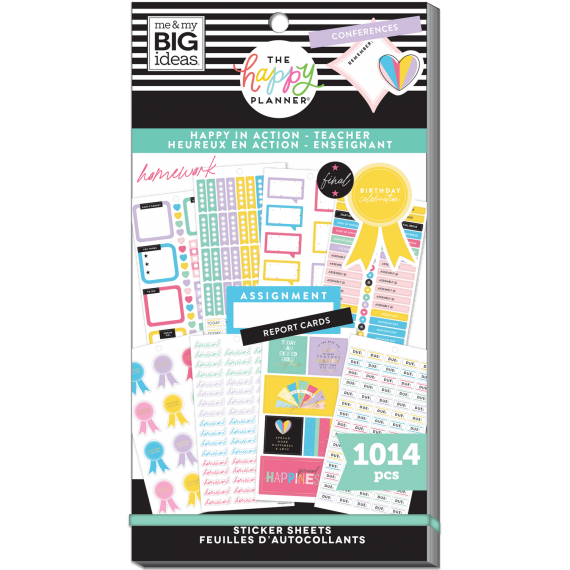 Happy In Action - Teacher Value Pack Stickers