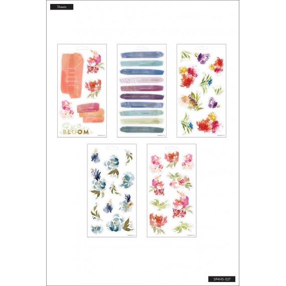 Watercolor Florals - 5 Sticker Sheets