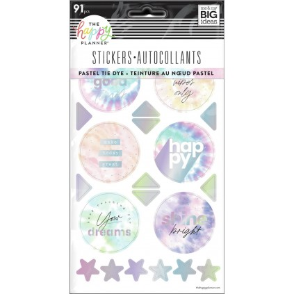 Pastel Tie Dye - 5 Sticker Sheets