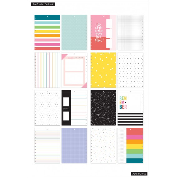 Bright - Big Pre Punched Cardstock Photo Pages