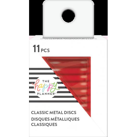 Red Medium Metal Discs