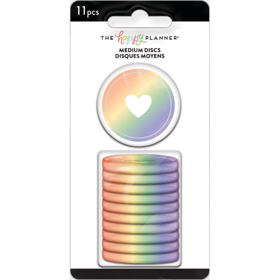 Iridescent Medium Plastic Discs