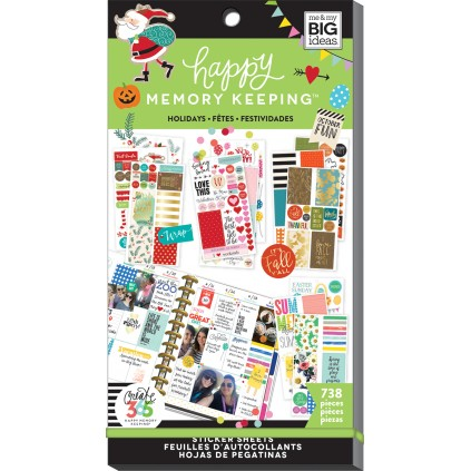 Holidays - BIG - Happy Memory Keeping - Value Pack Stickers