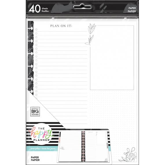 Black & White Florals - BIG - Filler paper