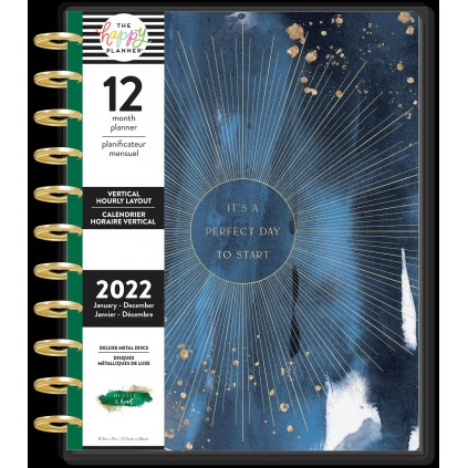 Work From Home - BIG Deluxe Happy Planner - Hourly Vertical - 12 month