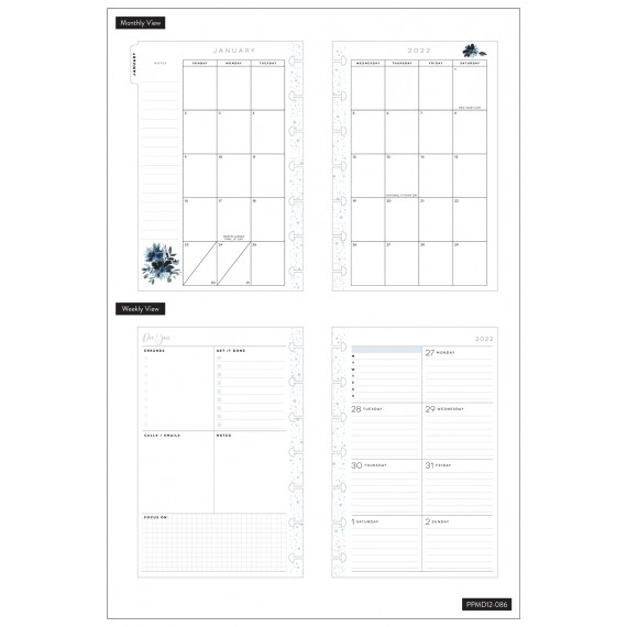 Its Your Year - Mini Happy Planner - Dashboard - 12 month