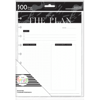The Plan - Classic Block Pad