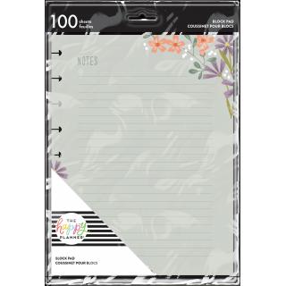 Notes Floral - Classic Block Pad