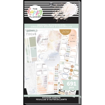Neutral Watercolors - Sticker Value Pack