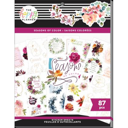 Seasonal Watercolor - Large Sticker Value Pack