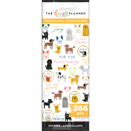 Colorful Dogs - 8 Sticker Sheets