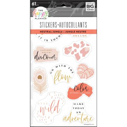 Neutral Jungel - 5 Sticker Sheets