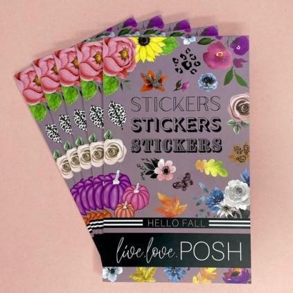 Hello Fall Stickerbook - Live Love Posh