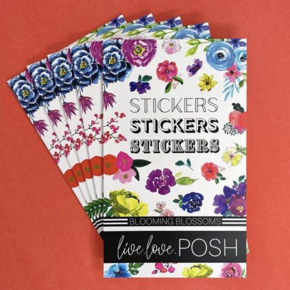 Blooming Blossoms Stickerbook - Live Love Posh