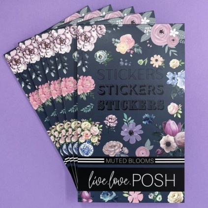 Muted Blooms Stickerbook - Live Love Posh