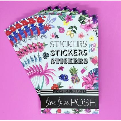 Whimsical Summer Stickerbook - Live Love Posh