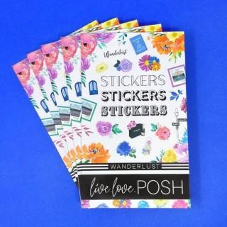 Wanderlust Stickerbook - Live Love Posh