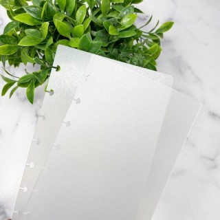 Frosted Planner Covers - Classic Half Sheet - Live Love Posh