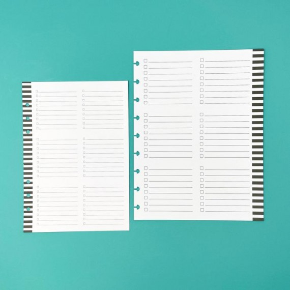 Monthly Overview Filler Paper - 100 sheets - Classic- Live Love Posh