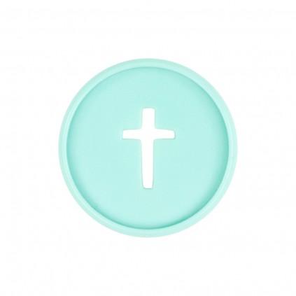 Cross Medium Plastic Discs - Pale Teal